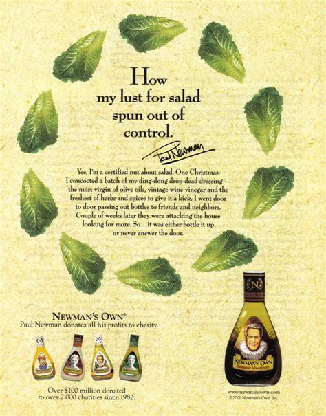 paul newman original salad dressing paul newman salad dressing 2001 magazine print ad