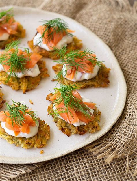 canapé toff smoked trout potato rosti canapés recipe mini