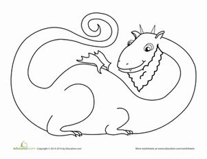 bearded dragon coloring page educationcom