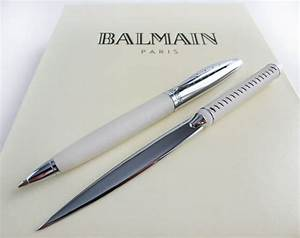 balmain paris luxury ballpoint with letter opener with With expensive letter opener