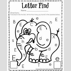 Cute Letter Find Worksheets With A Freebie  Worksheets, Kindergarten And Count