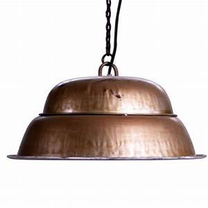 Deco Couleur Cuivre : suspension style industriel en m tal patin de couleur cuivre ~ Teatrodelosmanantiales.com Idées de Décoration