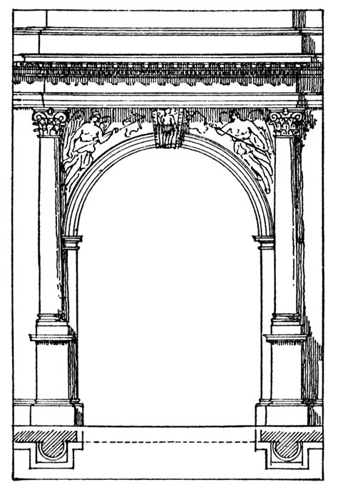 roman arch clipart