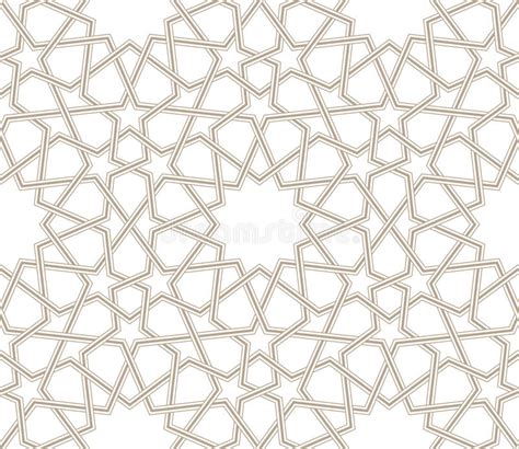white arabesque geometric pattern grey lines with white background
