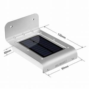 suaoki 16 led solar power motion sensor light outdoor With outdoor sensor lights au