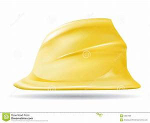 Hard Hat Vector Icon Symbol Yellow Stock Vector - Image ...