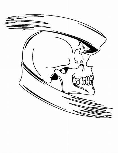 Skull Coloring Scary Pages Halloween Tattoo Banner