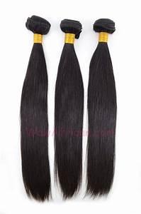 Natural Color Silky Straight Brazilian Virgin Hair Weave ...