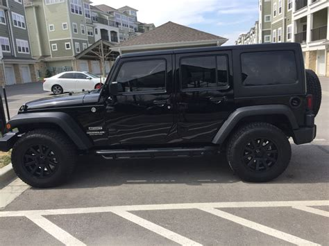 black jeep wrangler unlimited my black jeep wrangler unlimited custom painted xd heist