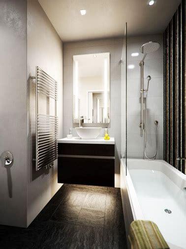 Petite Salle De Bain Moderne Avec Un Meuble Vasque Surélevé