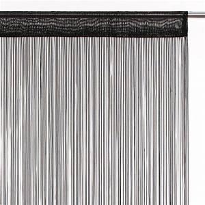 Rideau Fil Noir : rideau fils l90 ruban noir eminza ~ Teatrodelosmanantiales.com Idées de Décoration