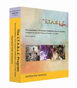 The S T A B L E  Program Instructor Manual  U2013 The S T A B L