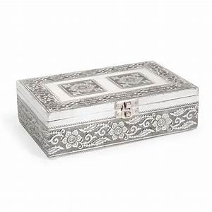 Boite Lumineuse Maison Du Monde : bo te bijoux en m tal grise h 6 cm nansana maisons du monde ~ Preciouscoupons.com Idées de Décoration