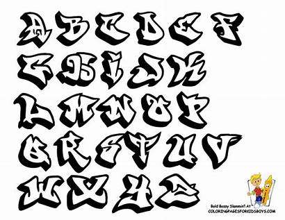 Graffiti Letters Alphabet Coloring Pages Numbers Fonts
