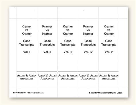 Insertable Spine Labels For Standard 3 Binders Insertable Spine Labels For Standard 3 Quot Binders