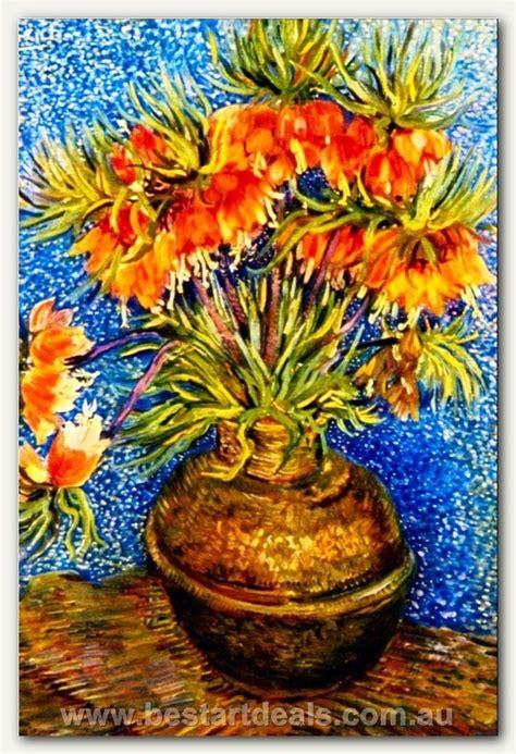 vincent van gogh fritillaries   copper vase