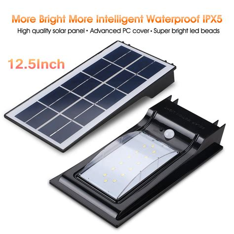 excelvan outdoor solar power led security light dusk to