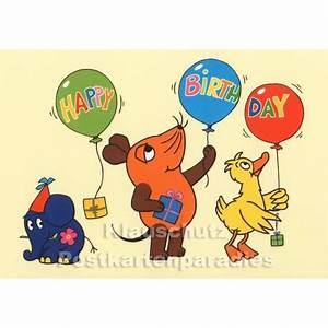 Happy Birthday Maus : maus und elefant happy birthday geburtstagskarte ~ Buech-reservation.com Haus und Dekorationen