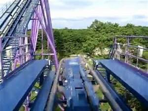 Bizarro Roller Coaster Front Seat @ Six Flags - YouTube