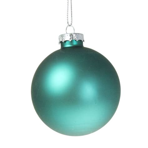 teal blue glass baubles 6 x 70mm christmas time uk
