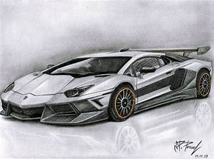 Drawn lamborghini hard - Pencil and in color drawn ...