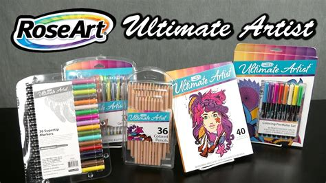 ultimate artists gel  coloring portfolio set coloring pages markers pencils  roseart
