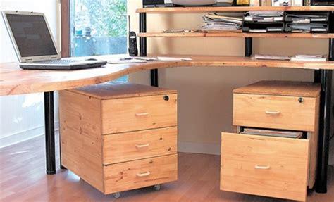 plan de bureau en bois fabriquer des caissons de bureau en bois