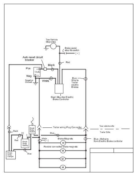 electric trailer brake wiring schematic free wiring diagram