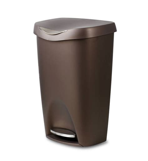 kitchen trash can bronze brim 50 l step can in kitchen trash cans