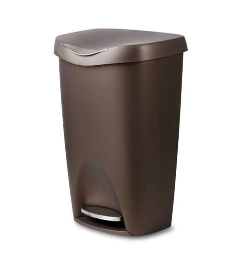 Bronze Brim 50 L Step Can In Kitchen Trash Cans