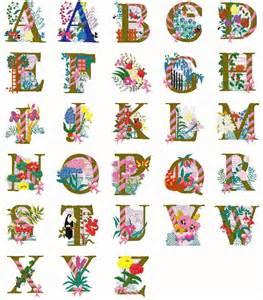 Floral Alphabet Letters Designs