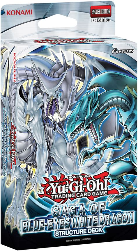 yugioh deck structure deck saga of blue white