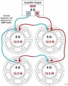 Conexi U00f3n De Altavoces A Amplificadores  Impedancias In