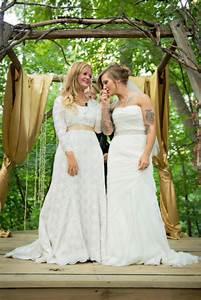 awe worthy bride styles for your same sex wedding With lesbian wedding attire ideas