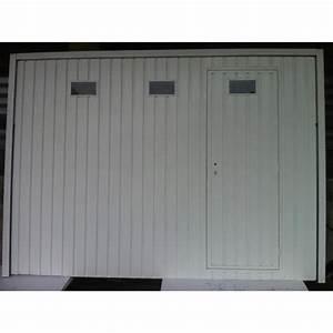 porte de garage basculante avec portillon et hu achat With porte de garage isolante avec portillon