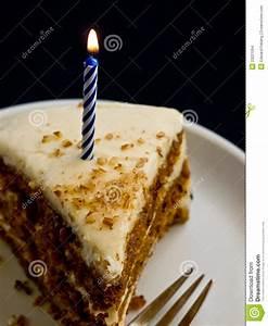 Happy Birthday Cake & Candle Stock Photo - Image: 23221264