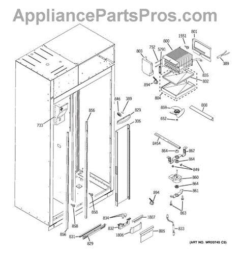 parts  ge zisbdxb freezer section parts