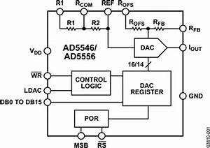 ad5546 datasheet and product info analog devices With simple 8 bit two quadrant multiplying digital to analog converter dac