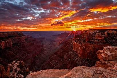 Canyon Grand Arizona Abyss Sunrise Hover Sunset