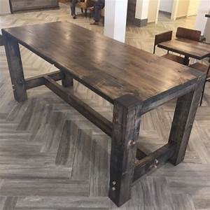 buy a hand crafted barn wood community table bar height With barnwood counter height table