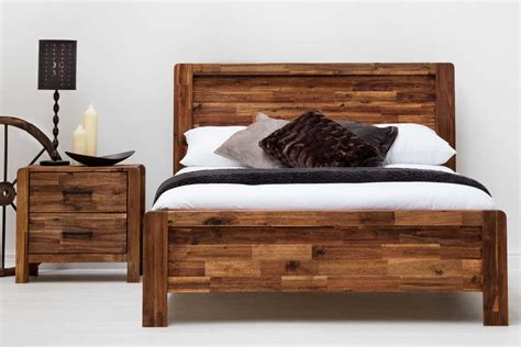 Size Wood Bed Frame by Chester Wooden Country Farmhouse Bed Frame Rustic Java