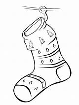 Socks Coloring Pages Stocking Fireplace Printable Mycoloring Colorkid Stockings Christmas sketch template