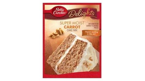 betty crocker super moist delights carrot cake mix