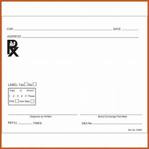 prescription pad template sop example With template for prescription pad
