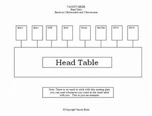 Free Individual Table Seating Charts Free Wedding