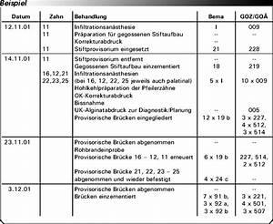 Bema Abrechnung : abrechnung nach bema und goz br cken eine gegen berstellung ~ Themetempest.com Abrechnung