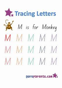 Number Chart 1 20 With Words Letter M Worksheets Guruparents