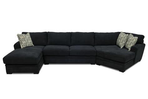 Black Fabric Sectional Sofas Jolanda Ii Sectional Sofa