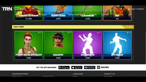fortnite tracker nov  item shop game jolt