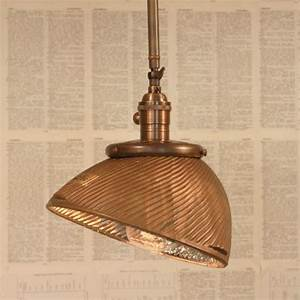 Industrial Lighting With Vintage Mercury Glass Shade In